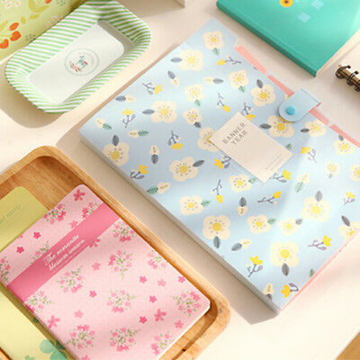 Floral Printed Document File Folder Expanding Letter Organizer 6A