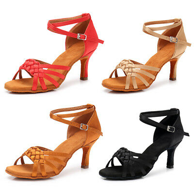 Brand New Women's Ballroom Latin Tango Dance Shoes Salsa 5 Colors  5/7cm Heels
