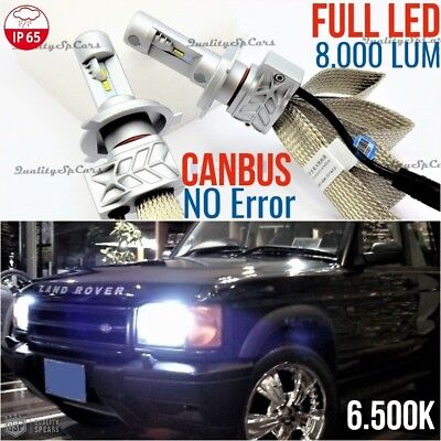 Set Full LED H4 LAND ROVER DISCOVERY 1 2 td5 Sport 4x4 6500K CANBUS lights