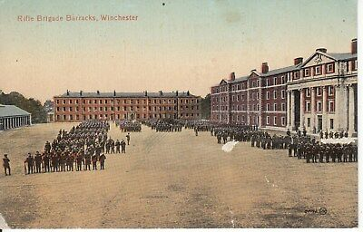Early Post  card, Rifle barracks, Winchester. Unused