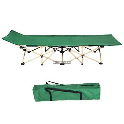 Folding Camping Bed Outdoor Portable Military Cot Sleeping Hiking Travel +BAG