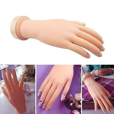 Flexible Plastic Flectional Mannequin Model Hand Nail Art Practice Tool ED 15