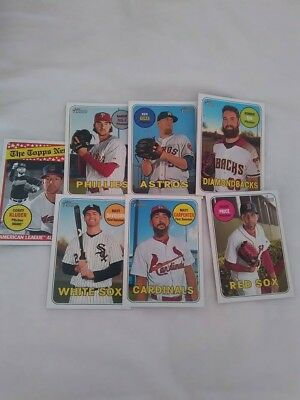 Topps Heritage Baseball card lot nm/mt Red Sox, Astros etc