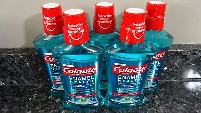 5 Colgate Enamel Health Sparkling Fresh Mint Alcohol Free Mouthwash 16.9 FL oz.