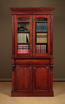 Antique Quality Walnut Bookcase c.1870.