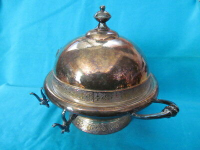 Meriden. Quadruple Silver Plate, Antique Footed Butter Dish  - Vgc