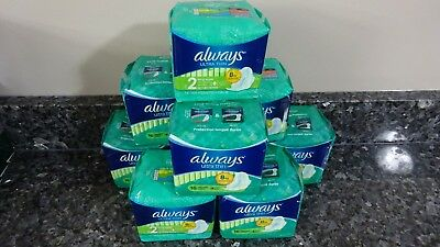 144 Always Ultra Thin Long Super Size 2 Pads with Flexi-Wings (9 packs of 16)