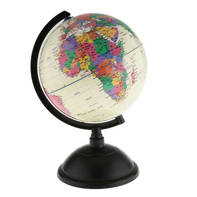 30cm Globe with Base World Discovery Educational Gift Table Decoration White