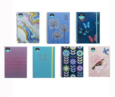 WHSmith 2018-19 A5 Academic Mid Year Diary Week To View In Various Style