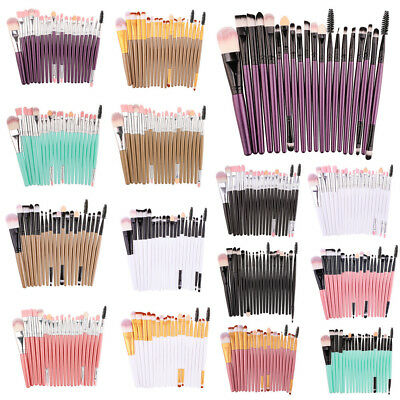NEW 20Pcs Makeup Brushes Set Eyeshadow Blending brush Powder Foundation Cosmetic