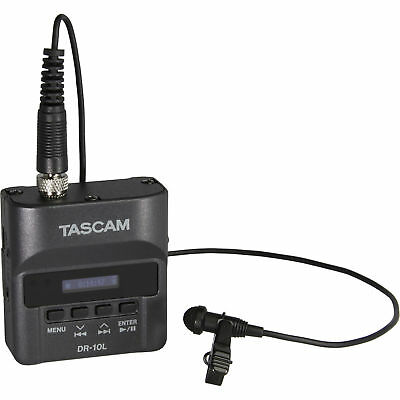 Tascam DR-10L Digital Audio Recorder w/ Lavalier Mic,Case, Windscreen, USB Cable
