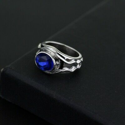 The Lord Of The Rings Elrond Vilya Ring of Air Elf Rings Fan Gift Hobbit Jewelry