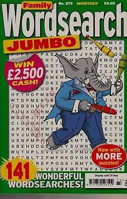 Family Wordsearch Jumbo. 141 Wonderful Wordsearch Puzzles Volume 273.