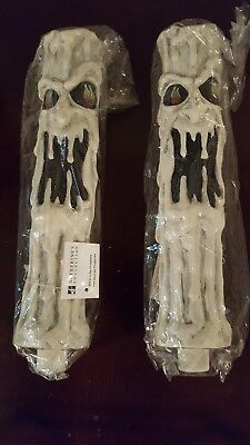 Katherine's Collection PAIR Halloween Melted Portrait Candle Sleeve Holders  NEW