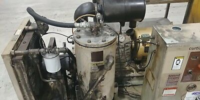 Curtis RS50D rotary screw air compressor, 125PSI 222CFM 50HP 460V W/ NEW MOTOR