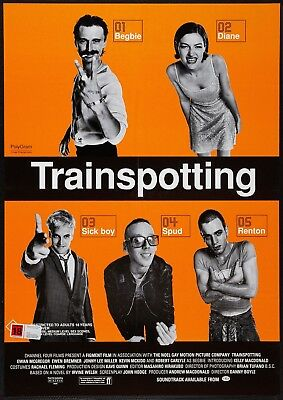 "Reproduction ""Trainspotting"" Movie Poster, Classics, Home Wall Art"