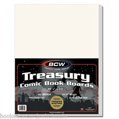 1 Pack of 100 BCW Treasury Comic Book Backing Backer Boards Acid Free