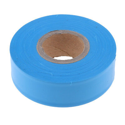 Outdoor Marking Ribbon Flagging Tape Trail for Marking Stakes Trees Blue