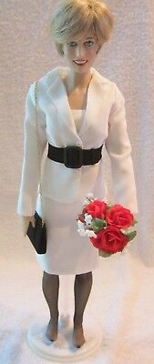 Princess Diana White Suit with Black Suede Belt for Franklin Mint Doll