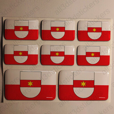 Sticker Bolzano Resin Domed Stickers Italy Flag 3D Adhesive Decal
