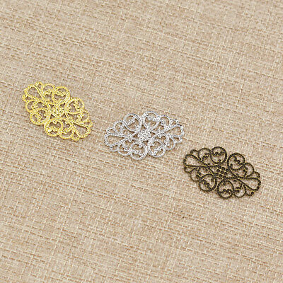 1 Set Metal Filigree Flowers Slice Hollow Out Jewelry Making Accessories DIY