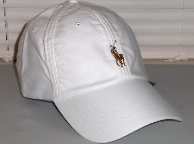 a228387ac95d7a POLO RALPH LAUREN Men's Pony Cotton Oxford Baseball Cap, Sport Hat, White,  ...