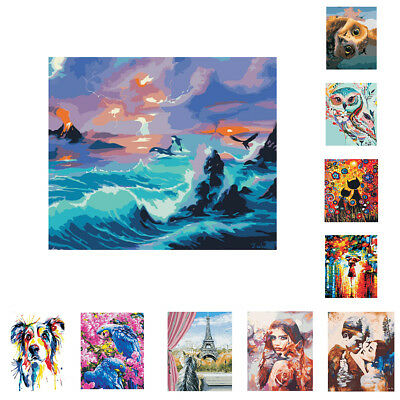 DIY Paint By Numbers Kit Digital Oil Canvas Painting Home Wall Decoration