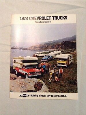 Original 1973 Chevrolet Trucks Recreational Vehicles Sales Brochure 73 Chevy