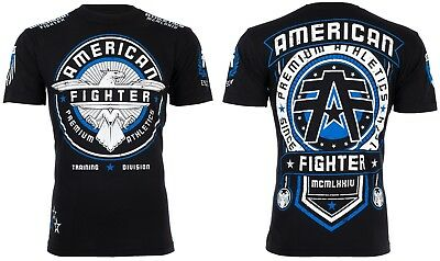 AMERICAN FIGHTER Mens T-Shirt TRIDENT Eagle BLACK Athletic Biker Gym UFC $40 NWT