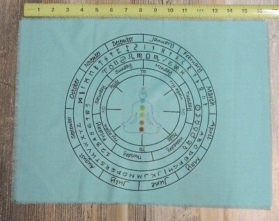 Unique Altar Alter Cloth For Pendulum Wicca Witch Teal