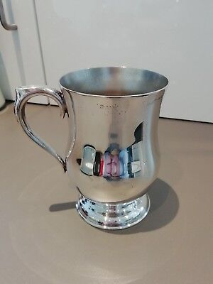 SILVER PLATED TANKARD marked EPNS