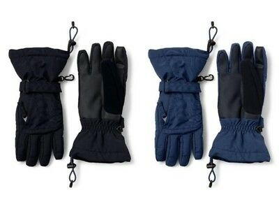 LANDS' END Boys' S Waterproof Squall Gloves NWT