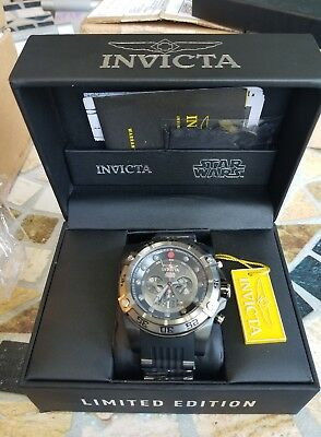 Invicta Star Wars Darth Vader 52mm Chronograph Limited Edition Watch New 26495