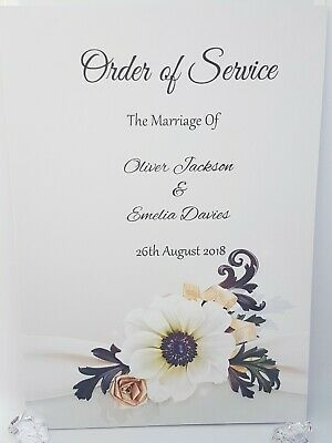 Wedding Order of Service Packs of 10