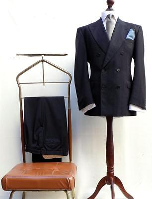 Vintage Austin Reed Oscar Jacobson Double Breasted 40 S Style Suit Uk 42r Eu 52 Eur 77 17 Picclick Fr