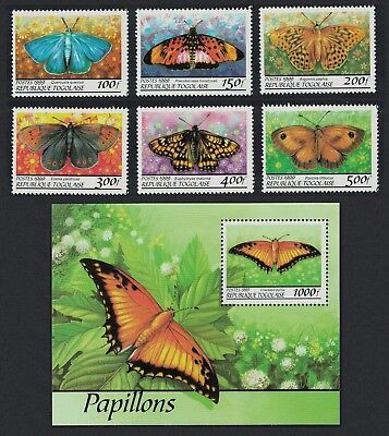 Togo Butterflies 6v+MS issue 1999