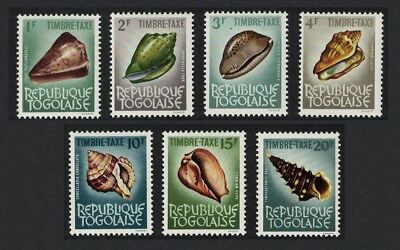 Togo Sea Shells Postage Due 7v issue SG#D366=D373