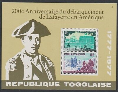 Togo Bicentenary of Lafayette's Arrival in America MS SG#MS1244