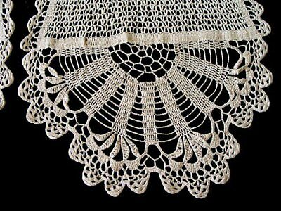 "BEAUTIFUL Antique Victorian Lace Mantle Scarf Runner 68"" Hand Made PRISTINE"