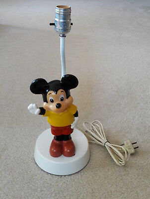 Vintage 1970s MICKEY MOUSE LAMP, Works, no shade
