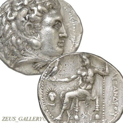 ALEXANDER the GREAT Rare HELIOS Herakles Ancient Greek Silver Tetradrachm Coin