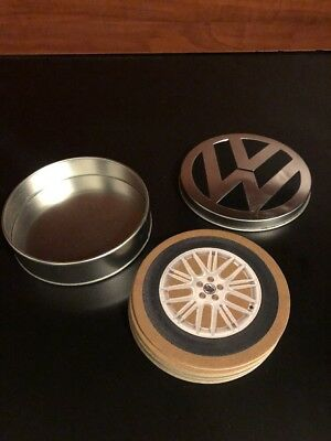 Volkswagen 8 Promotional Coasters with Tin Rims Collection