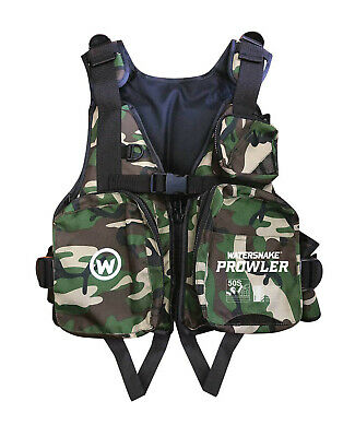 Watersnake Prowler PFD Camo Level 50S Life jacket BRAND NEW @ Ottos Tackle World