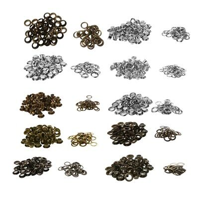 100Pcs 5/6/8/10/12mm Metal Eyelets Grommet Scrapbook Stamping Leather Craft DIY