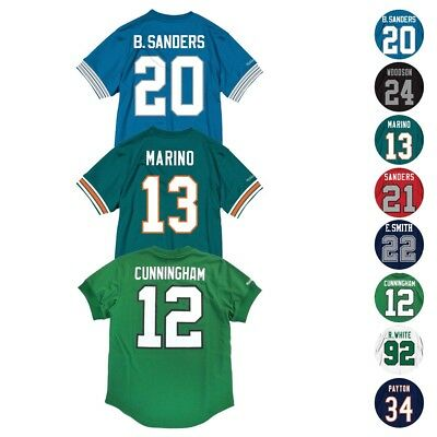 9a189b55 NFL Mitchell & Ness Mesh Name & Number Crew Neck Jersey Collection Men's