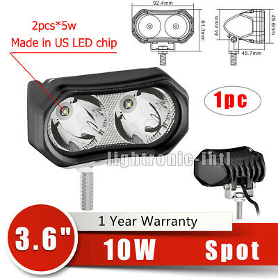1x 10W 12V Cree LED Work Light Spot Offroad Driving Fog Lamp Motorcycle 4WD ATV