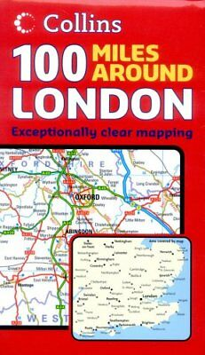 100 Miles Around London by Not Known Sheet map, folded Book The Fast Free