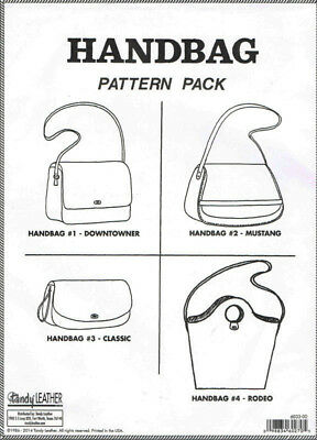 Tandy Leather Handbag Pattern Pack – Templates for 4 Handbags – Item #6033-00.
