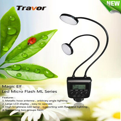 AU STOCK Travor ML-2D Macro 24LED Flash Lights Speedlite for Canon Nikon Camera