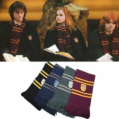 Harry Potter Scarf Cosplay Tie Wand Costume Gryffindor Slytherin Adult Kids